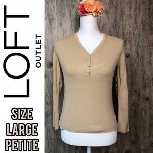 LOFT petite long sleeve shirt